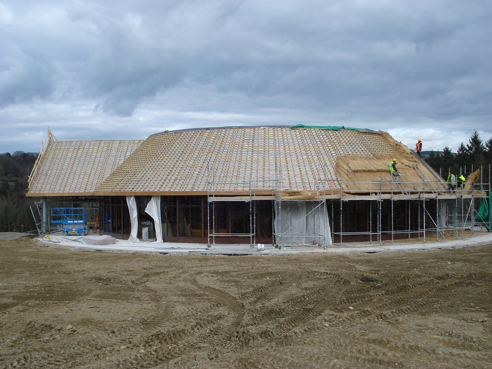 Thatched roof on the Clubhouse