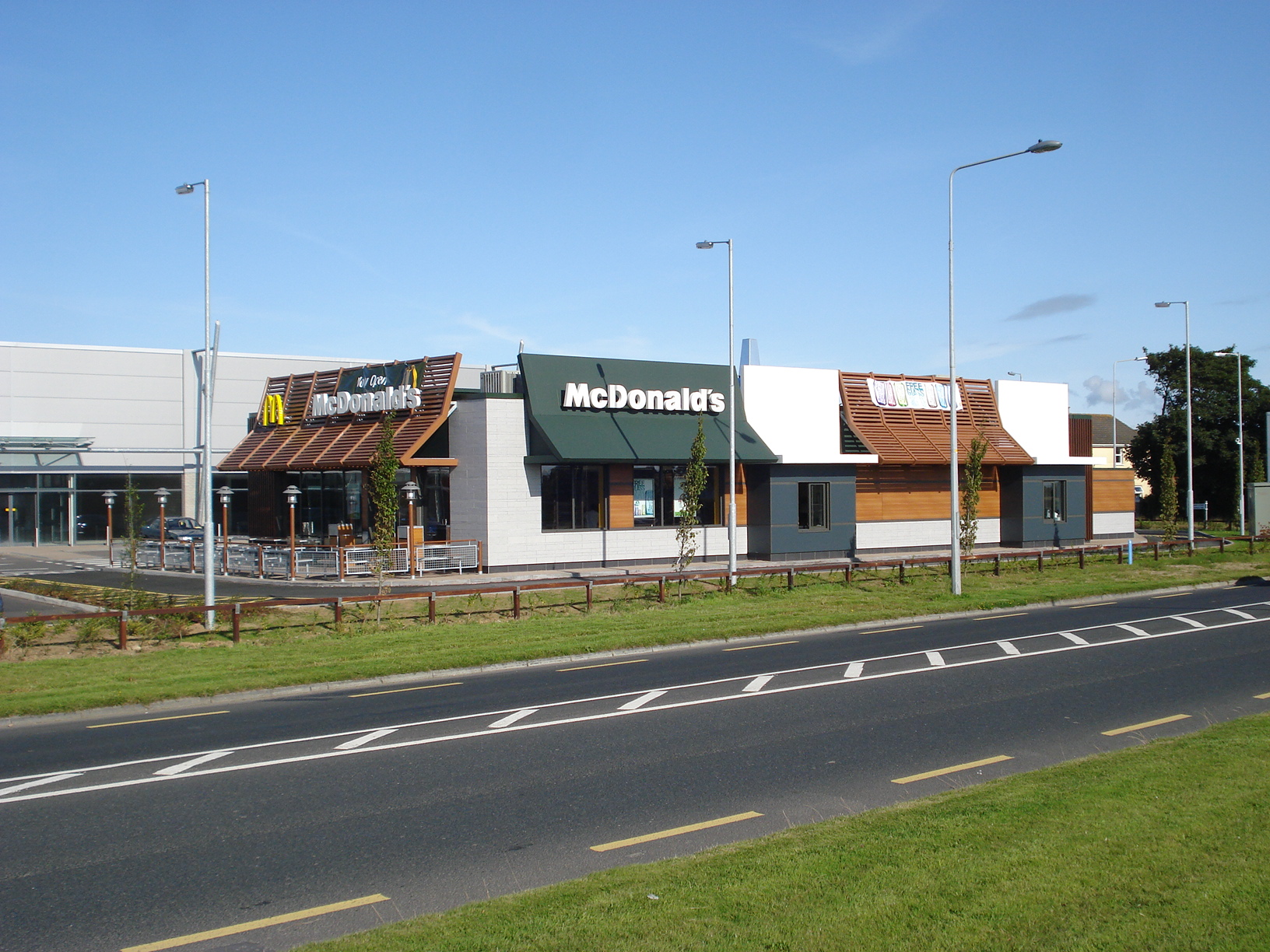 The view of McDonalds from the main road